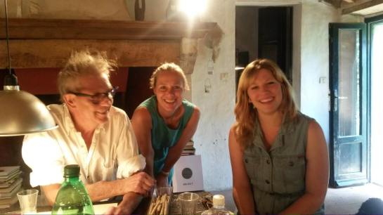 Me with Cornelia Lauf and Manfred Bischoff in Tuscany