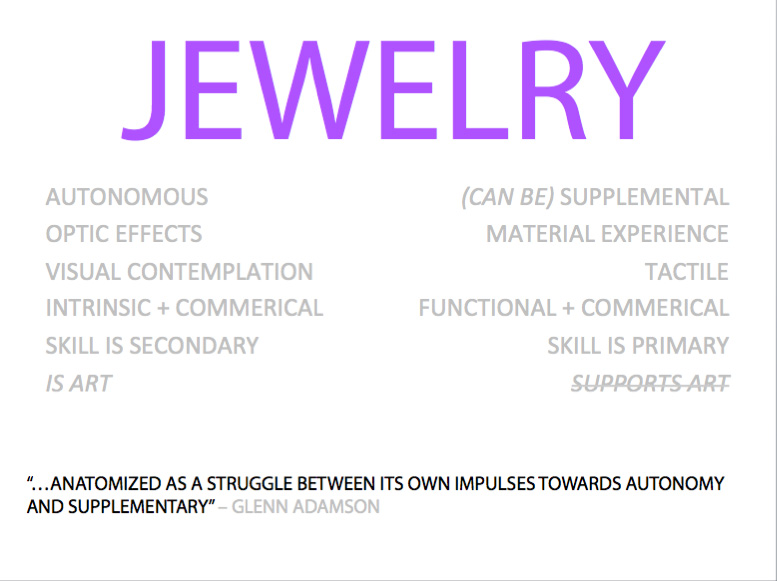 COSMOLOGY: WHAT IS CONTEMPORARY JEWELRY? | GREATER THAN OR EQUAL TO